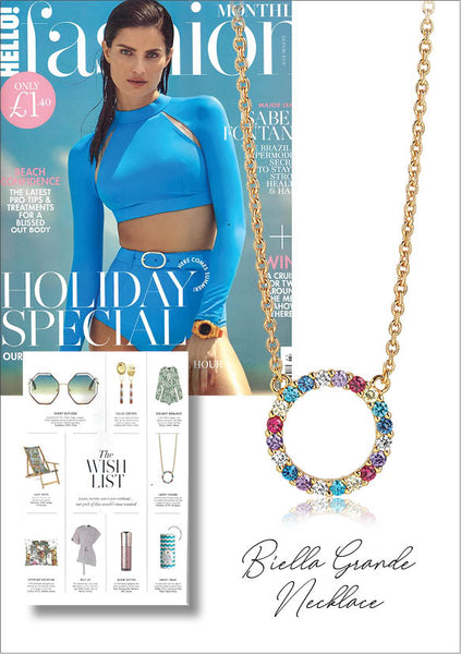 Sif Jakobs Jewelery Biella Grande Necklace in Hello! Fashion - gold with multicolored zirconia
