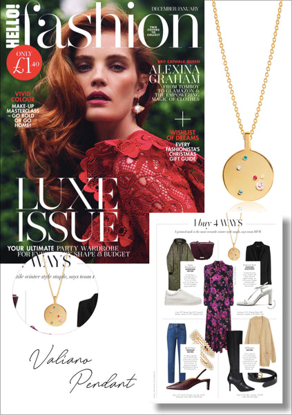 Sif Jakobs Jewellery Valiano pendant in Hello! Fashion - gold with multicoloured zirconia