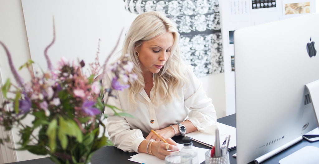 Sif Jakobs in her showroom in the heart of Copenhagen