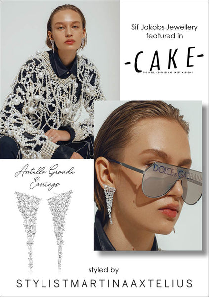 Sif Jakobs Jewelery Antella Earrings in CAKE - silver with white zirconia - Party - luxury