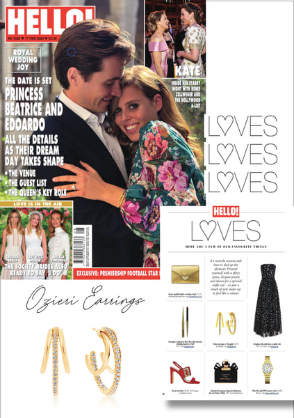 Sif Jakobs Jewellery - Ozieri earrings in Hello! gold with white zirconia