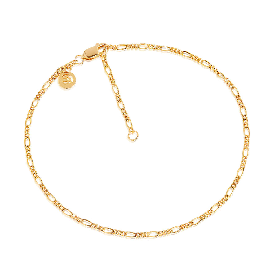 Ankle Chain Figaro - 18k gold plated
