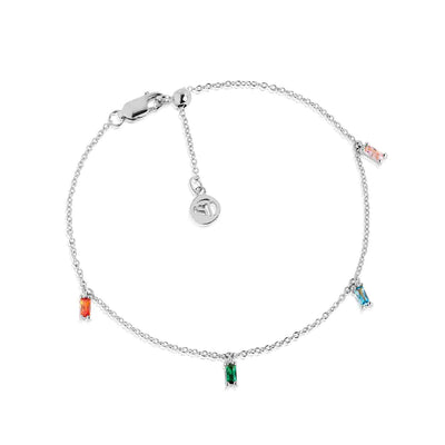 Ankle Chain Princess with multicolored zirconia