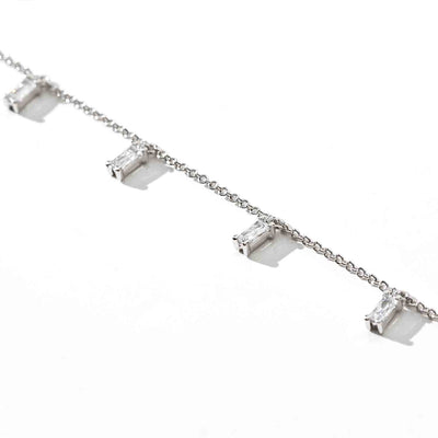 Bracelet Princess Baguette - with white zirconia