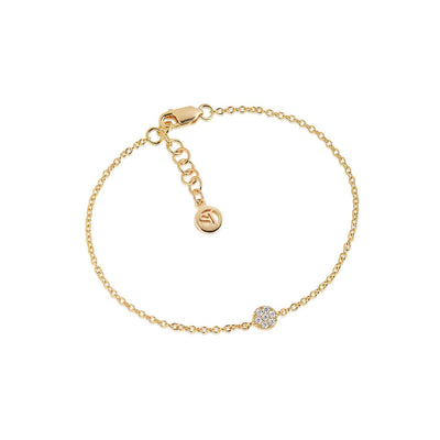 Bracelet Cecina - 18k gold plated with white zirconia