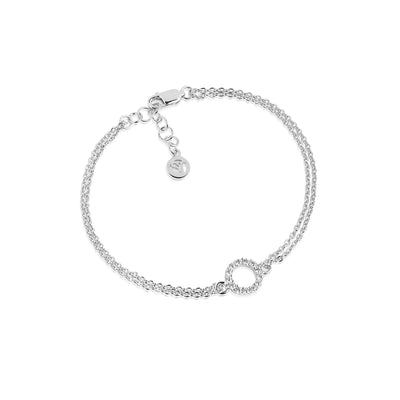 Bracelet Biella Piccolo with white zirconia