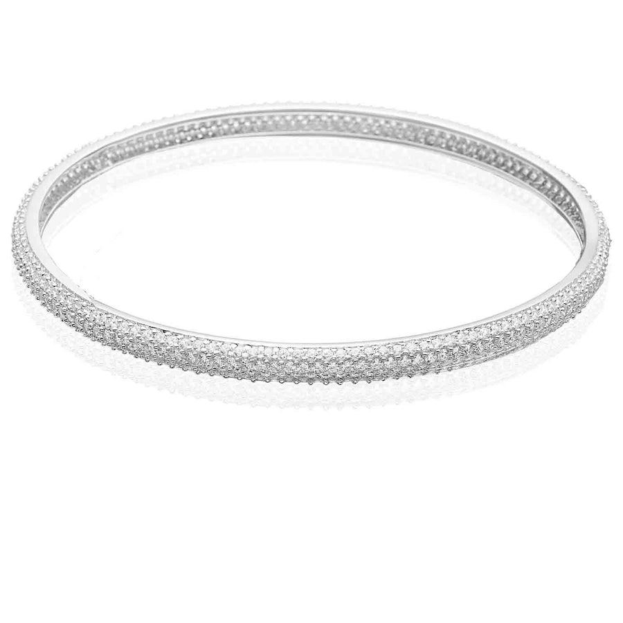 Bangle Catania Uno with white zirconia