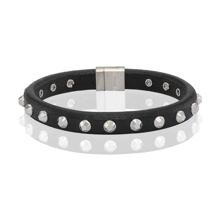 Bracelet Morrano black leather - Sif Jakobs Jewellery