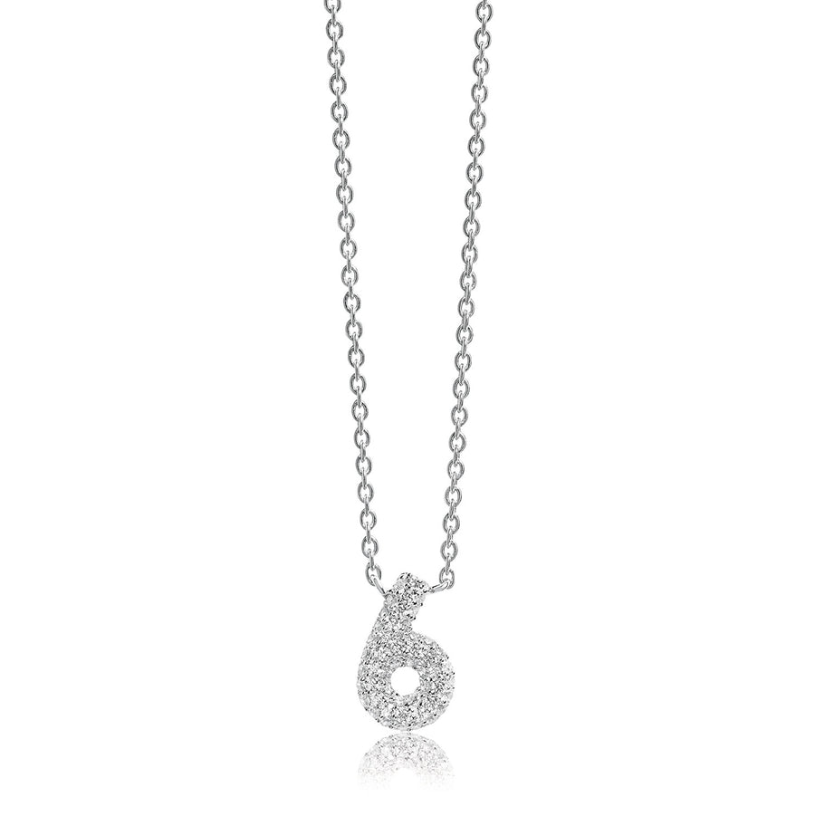 Necklace Novoli Sei with white zirconia - Sif Jakobs Jewellery