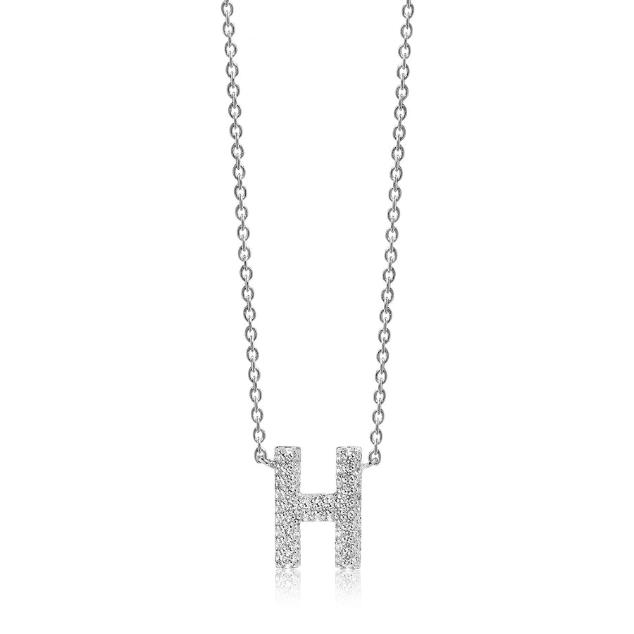Necklace Novoli H with white zirconia