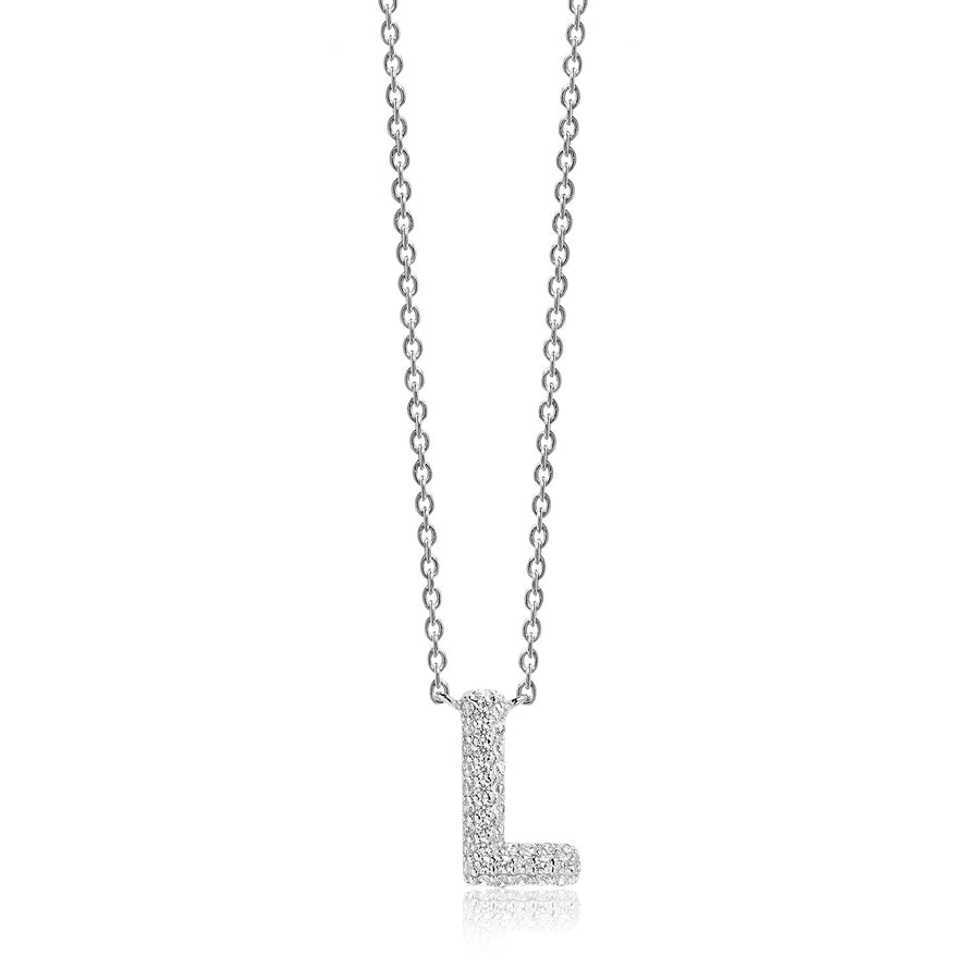 Necklace Novoli L with white zirconia