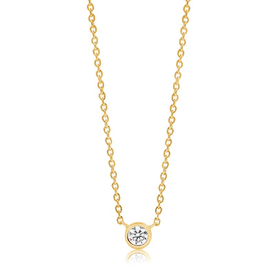 Necklace Sardinien Uno - 18k gold plated with white zircon