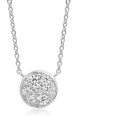 Necklace Novara with white zirconia