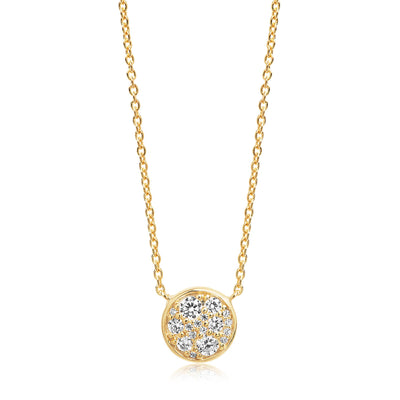 Necklace Novara - 18k gold plated with white zirconia