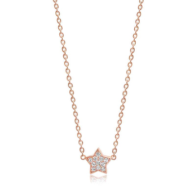 Necklace Atrani - 18k rose gold plated with white zirconia