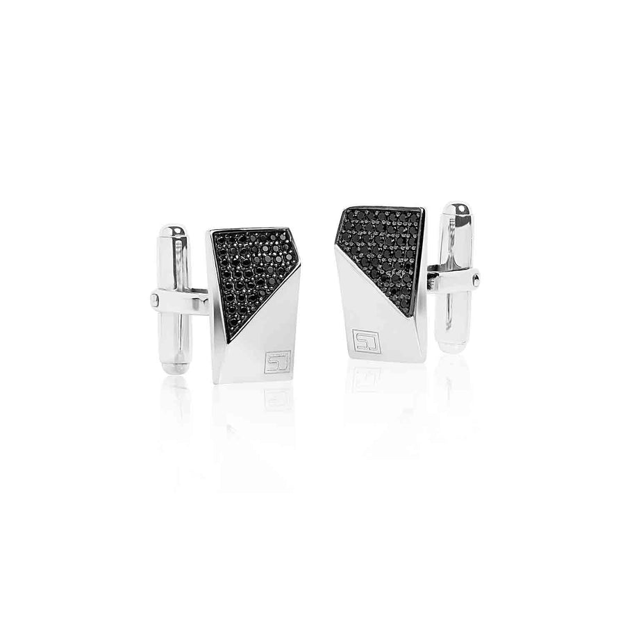 Cufflinks Terni with black zirconia