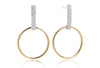 Earrings Itri Lungo - 18k gold plated with white zirconia