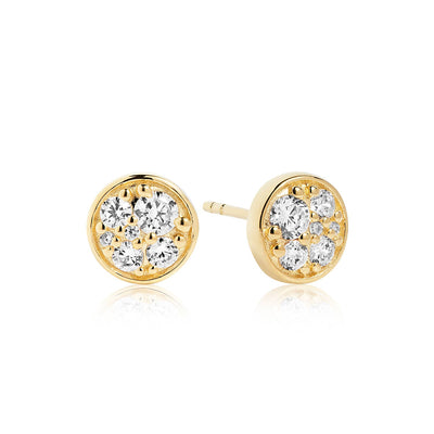 Earrings Novara Piccolo - 18k gold plated with white zirconia - Sif Jakobs Jewellery
