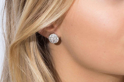 Earrings Novara with white zirconia