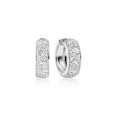Earrings Novara Circolo with white zirconia