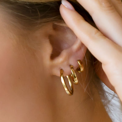 Earrings Ellera Pianura Piccolo - 18k gold plated