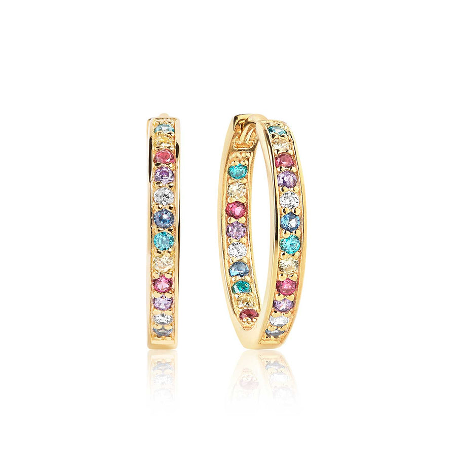 37ff0b3eb Earrings Corte - 18k gold plated with multicoloured zirconia