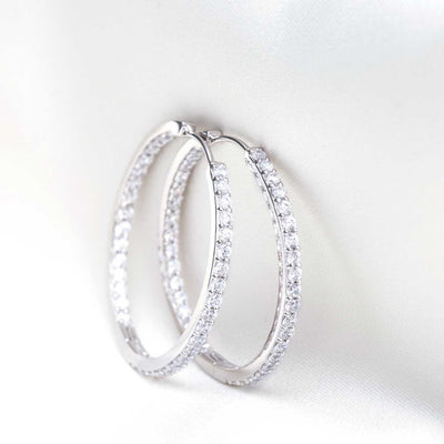 Earrings Bovalino with white zirconia