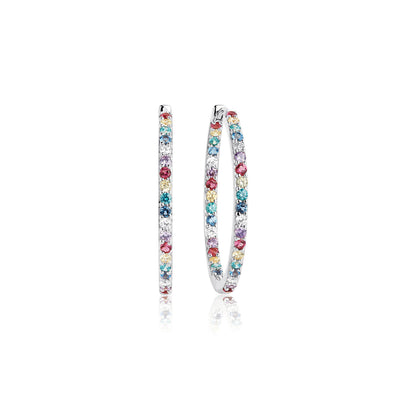 Earrings Bovalino with multicoloured zirconia