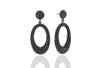Earrings Rosolini Lungo with black zirconia