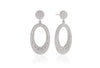 Earrings Rosolini Lungo with white zirconia