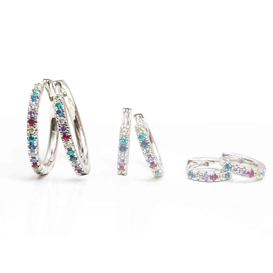 Earring Ellera X-Grande with Multicoloured zirconia