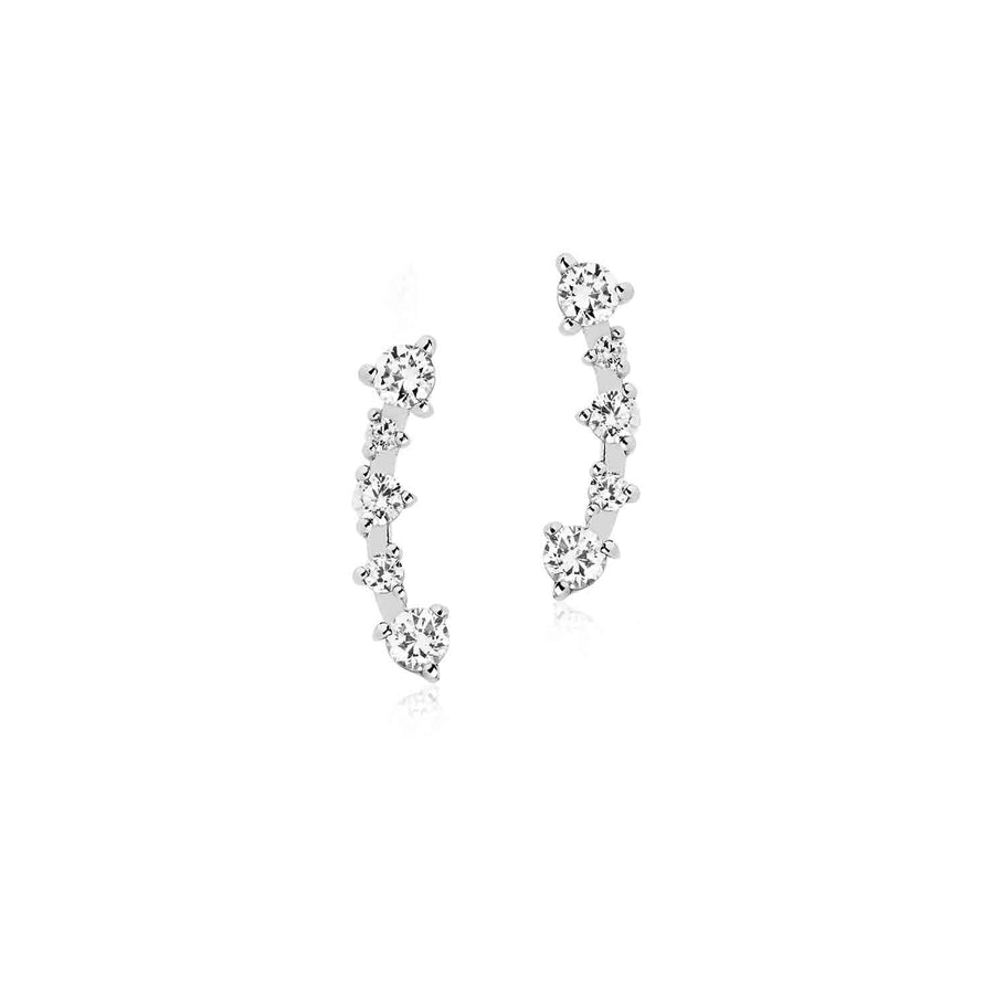 Earrings Princess with white zirconia