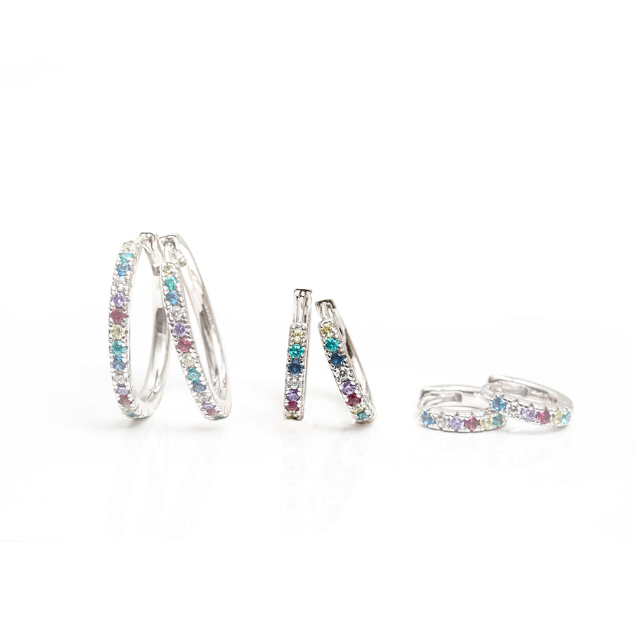 Earrings Ellera medio with multicoloured zirconia