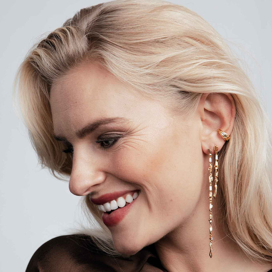 Ear cuff Vulcanello Pianura - 18k gold plated