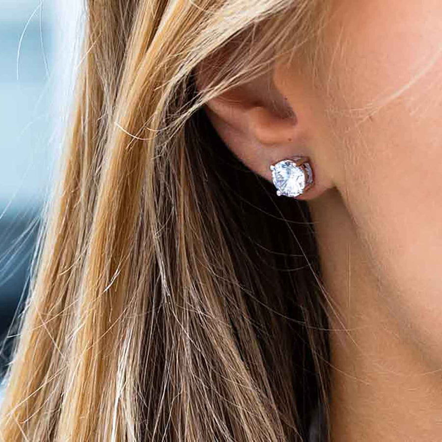Earrings Princess Round with white zirconia - Sif Jakobs Jewellery