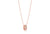 Pendant Imperia - 18k rose gold plated with white zirconia