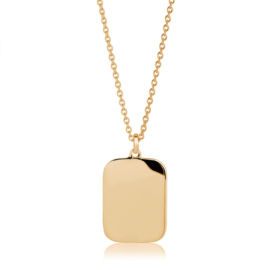 Pendant Follina Pianura Quadrato - 18k gold plated