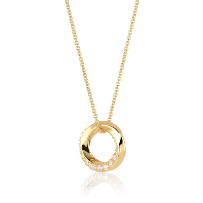 Pendant Ferrara - 18k gold plated with white zirconia/45-60