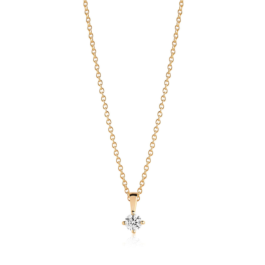 Pendant Princess Piccolo - 18k gold plated with white zirconia