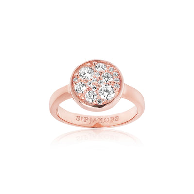 Ring Novara - 18k rose gold plated with white zirconia