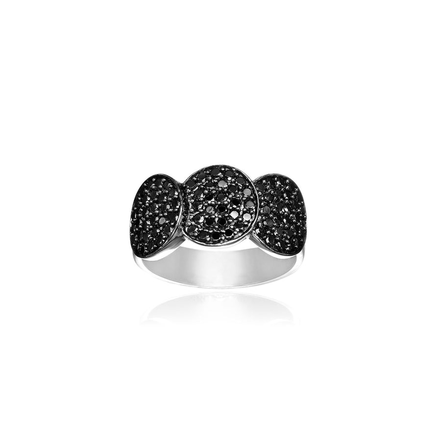 Ring Sacile with black zirconia (50)