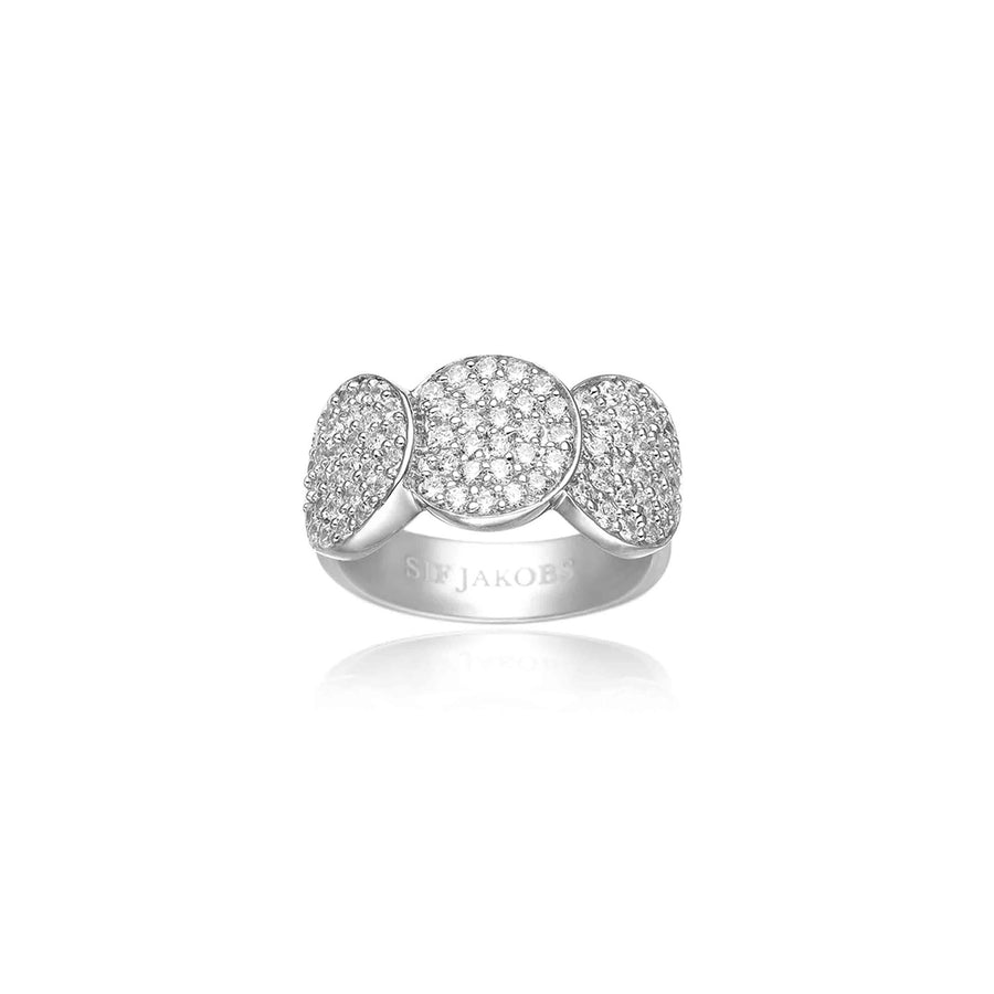 Ring Sacile with white zirconia (50)