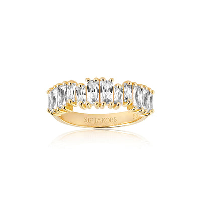 Ring Antella Piccolo - 18k gold plated with white zirconia