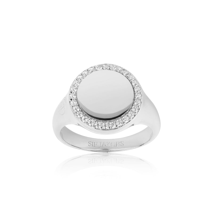 Ring Follina Grande with white zirconia