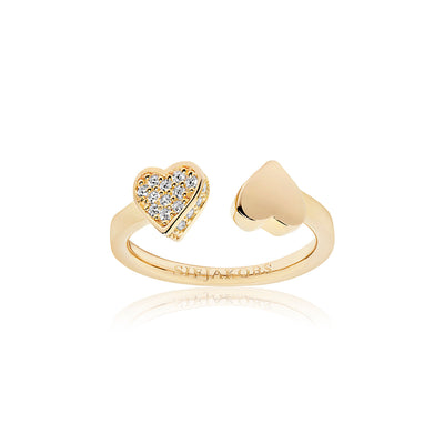 Ring Amore - 18k gold plated with white zirconia