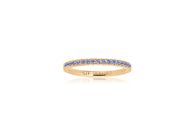 Ring Ellera - 18k gold plated with blue zirconia