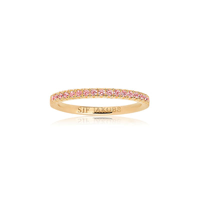 Ring Ellera - 18k gold plated with pink zirconia
