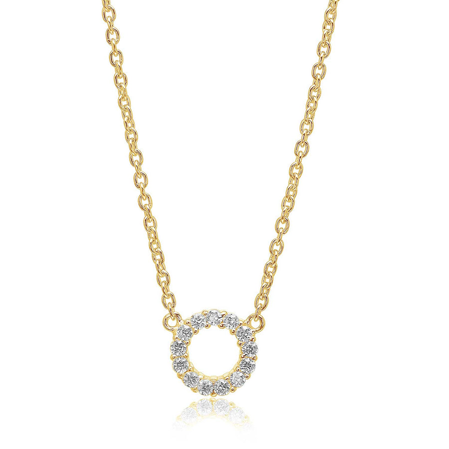 Necklace Biella Piccolo - 18k gold plated with white zirconia - Sif Jakobs Jewellery