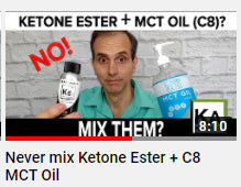 Don't mix MCT oil and Ketone Esters