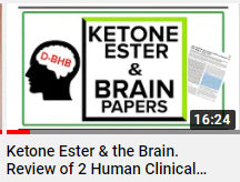 Ketone Ester and the human brain. How it works. Clinical trials reviewed.